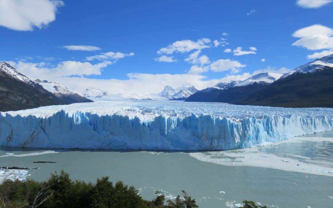 Giant Chunks Of Ice Fall From The Perito Moreno Glacier In Patagonia