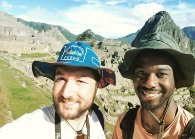 Will and Brandon at Machu Picchu